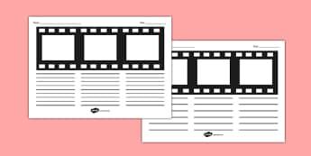 Movie Film Strip Storyboard Template - movie, film strip, storyboard, template