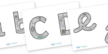 Castles & Knights Display Lettering & Symbols (Images) - Display lettering, Castles, Knights, display letters, alphabet display, letters to cut out, letters for displays, coloured letters, coloured display, coloured alphabet