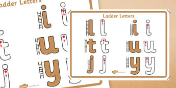Ladder Letters Formation Display Poster - letter formation, display poster, display, poster, letter, formation, laddy