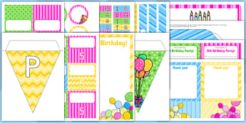 5th Birthday Party Pack - 5th birthday party, 5th birthday, birthday party, pack