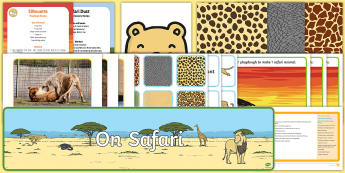 Childminder Safari EYFS Resource Pack - Safari, Africa, African animals, elephant, rhino, crocodile, savanna,
