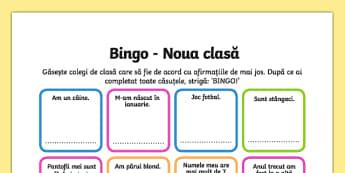 Prima zi de școală - Bingo
