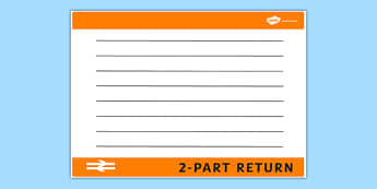 Blank Train Ticket Template - train ticket, template, writing template, writing aid, blank template, blank, train ticket template, blank writing template