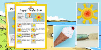 Seaside Themed Craft Activity Pack - seaside, craft activity pack