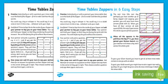 Times Tables Zappers Pupil Guide