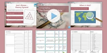 Geography of Asia Activity Pack - Asia, KS3, Geography, Countries, Biomes, Deserts, Mountains, Tropical Rainforests, Tundra, Temperate