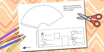 Handa's Surprise Hut 3D Net Shape Template - handas surprise, stories, template
