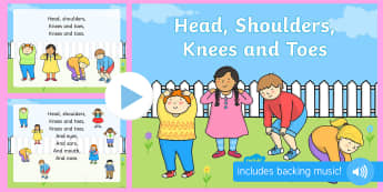 Head Shoulders Knees and Toes PowerPoint - visual, powerpoints