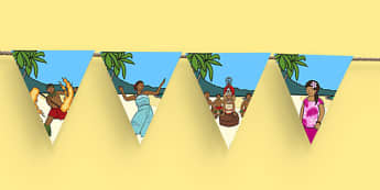 Samoan Language Week Display Bunting