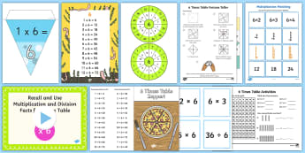 6 Times Table - 6x, 6 times tables, six, multiplication
