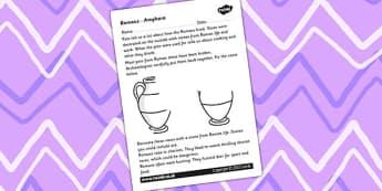 Roman Amphora Worksheet - roman amphora, romans, worksheet, romans worksheet, history, history worksheet, themed worksheets, writing aid, visual aids