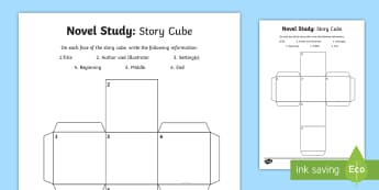 Novel Study Story Cube Activity Sheet - CfE Novel Study Resource Pack, reading activities, world book day, character study, comprehension, s