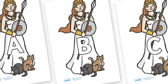 A-Z Alphabet on Viking - A-Z, A4, display, Alphabet frieze, Display letters, Letter posters, A-Z letters, Alphabet flashcards