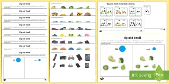Workstation Pack: Big and Small Activity Pack - TEACCH, ASD, workstation, p scales, maths p4, maths, maths p5