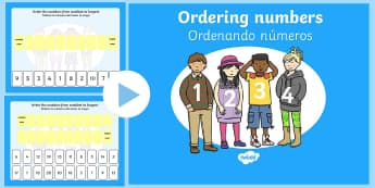 Ordering Numbers 0-10 and 0-20 PowerPoint English/Spanish - Ordering Numbers 0 10 and 0 20 PowerPoint - order, number, numbes, nubers, seriation, pp, ppt, EAL,
