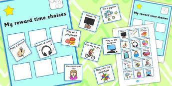 My Reward Time Choices - reward, time, choices, cards, rewards