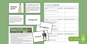 Pride and Prejudice Key Quotations Pack