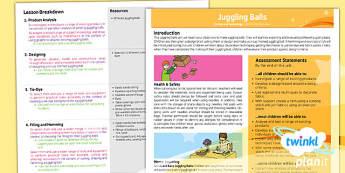PlanIt - Design and Technology LKS2 - Juggling Balls Planning Overview