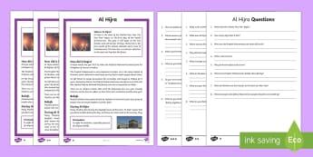 Al Hijra Differentiated Reading Comprehension Activity