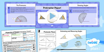 PlanIt Y5 Properties of Shapes Lesson Pack Draw and Measure Angles (1) - Properties of Shapes, angles, acute, obtuse, reflex, measure angles, draw angles, degrees, protractor, angle measurer