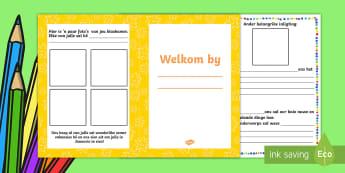 Welkom boekie vir kinders - Welkom boekie - nuwe jaar, begin van die jaar, boek, boekie, skryf.