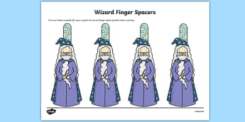 Writing Finger Spacers Wizard- education, home school, free, how
