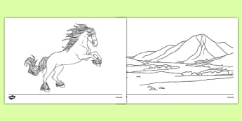 Noggle Scottish Myths and Legends Colouring Pages