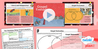 PlanIt - RE Year 6 - The Christmas Story Lesson 4: Gospel Evaluations Lesson Pack