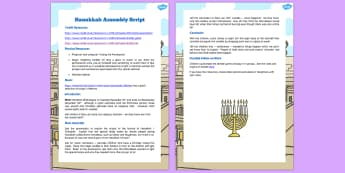 Hanukkah Assembly Script - assembly script, hanukkah, assembly