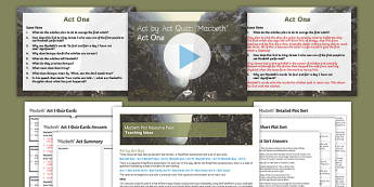 Macbeth Plot Resource Pack