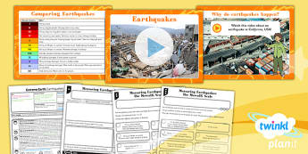 PlanIt - Geography Year 3 - Extreme Earth Lesson 4: Earthquakes Lesson Pack
