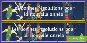 Les bonnes résolutions pour la nouvelle année Banderole d'affichage - New Year, nouvel an, nouvelle année, résolution, resolution, banderole, affichage, display , banne