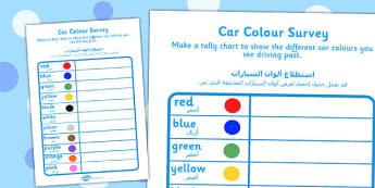 Car Colour Survey Arabic Translation - arabic, car, colour, survey, colour survey