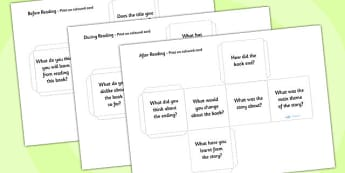 Reading Book Question Prompts Dice Net - reading prompt dice, book review prompt dice, book review, reading prompt questions, review prompt questions