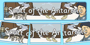 Scott of the Antarctic Display Banner - display, banner, scott