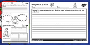 Tudors Mary Queen of Scots Mind Maps and Worksheets - mary queen of scots, mary queen of scots worksheets, tudors worksheets, the tudors, tudor history