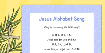 Jesus Alphabet Song - Easter, song, rhyme, jesus, alphabet song, alphabet