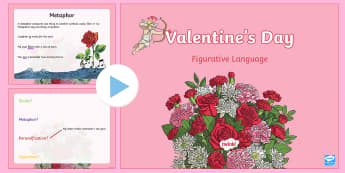 Valentine's Day Figurative Language PowerPoint - Valentine's Day USA