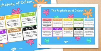 Infographic Psychology of Colour - infographic, psychology of colour, psychology, colour