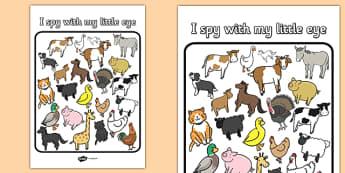 I Spy With My Little Eye Farm Odd One Out Activity - I spy, farm