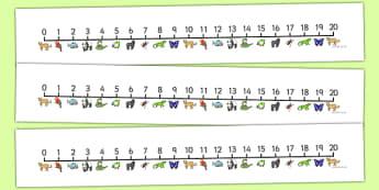 Jungle & Rainforest Number Line (0-20) - Jungle, Rainforest, Maths, Math, numberline, numberline display, vines, snake, forest, ecosystem, rain, humid, parrot, monkey, gorilla