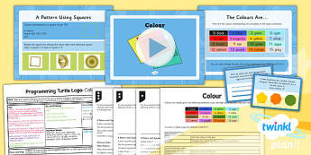 PlanIt - Computing Year 4 - Programming Turtle Logo Lesson 3: Colour Lesson Pack