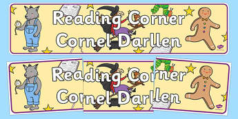 Reading Corner Display Banner Welsh Translation - welsh, cymraeg, Foundation Phase, Reading Corner, Display Banner