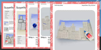 Superhero City Picture Craft Instructions - superhero, craft