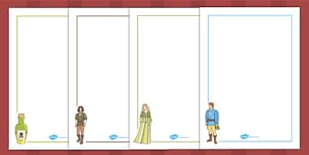 Romeo and Juliet Page Borders - shakespeare, writing aid, border