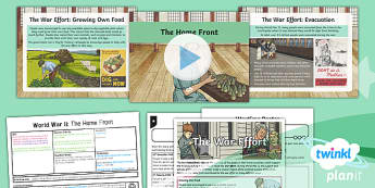 PlanIt - History LKS2 - World War II Lesson 2: The Home Front Lesson Pack