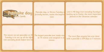 Pancake Day Display Fact Cards - pancake day, fact cards, display