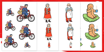 Size Ordering to Support Teaching on The Jolly Christmas Postman - christmas, size order