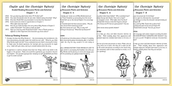 Levelled Guided Reading Questions Pack to Support Teaching on Charlie and the Chocolate Factory