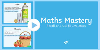 Year 6 Fractions Recall and Use Equivalences Maths Mastery Activities PowerPoint
